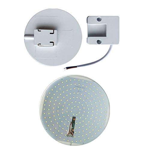 YUKI'S Design - Panel LED de techo (panel ligero, ultrafino, lámpara UFO redonda, para el hogar, sala de estudio, comedor, cocina, 9 W, 24 18 W, 36 W)