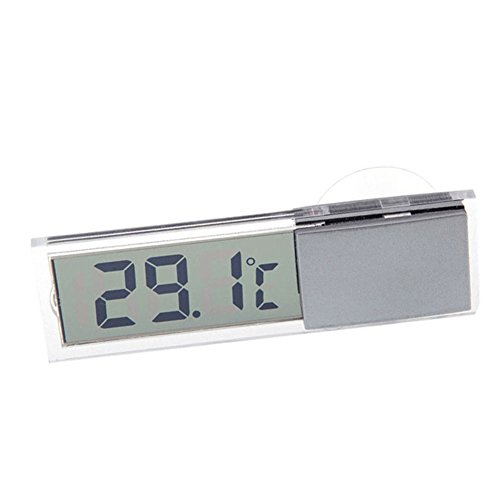 Abilie Auto-Thermometer Oskulum Typ Celsius Fahrenheit LCD Digital Temperaturmessgerät Saugnapf für Innen und Außen