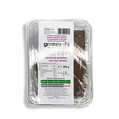 Granosalis -Focaccia proteica conriso venere a basso apporto...
