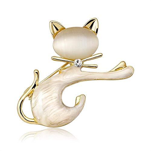 Ludage Exquisito Broches para Ropa Mujer Broche Simple Personalidad Gato Broche Animales señora Ramillete