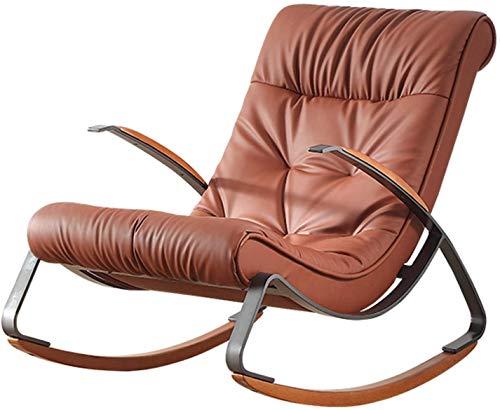 Poggiapiedi, Rilassa la sedia a dondolo della sedia a dondolo della sedia a dondolo, chaise Sunbathing Sedia addensata Spugna Confortevole relax Sedia a dondolo in ferro battuto telaio in ferro rimovi