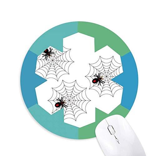Halloween Geist Angst Spider Round Rubber Blue Snowflake Maus Pad