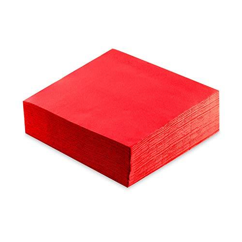 MORIGAMI Servilleta 40x40, 2 capas, pliegue 1/4, 50 servilletas, punta-punta, Rojo (SER42104060)
