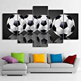 Whoops Artwork Poster Hd Print Decoración para el hogar 5 piezas Football Wall Art Motion Modular Living Room Background Picture Canvas Painting 30 * 40 * 2 30 * 60 * 2 30 * 80Cm sin marco