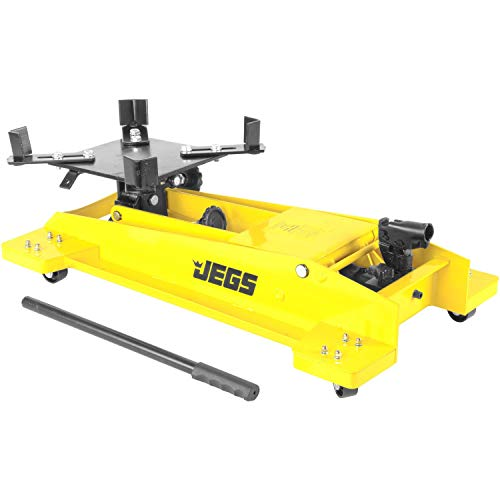 "JEGS Low Profile Transmission Jack | 1,000 LBS Capacity | Lift Range 8.5"" to 23"" 