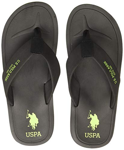 US Polo Association Men's Facundo Black Flip Flops Thong...