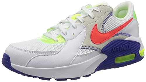 Nike Air MAX Excee AMD, Zapatillas Deportivas Hombre, White Bright Crimson Indigo BU, 40 EU