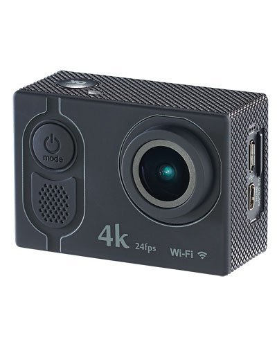 Somikon 4K Action Kamera: 4K-Action-Cam mit UHD-Video bei 24 fps, 16-MP-Marken-Sensor, IP68, WLAN (Action-Cam-Kamera)