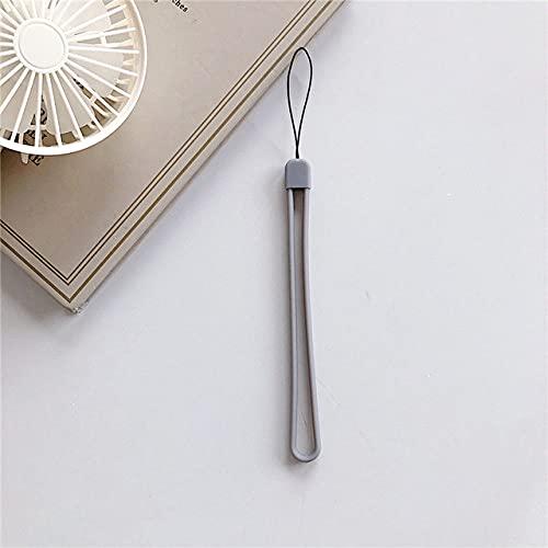 FYMIJJ Cordón de muñeca con cordón de Silicona con Correa de Goma Suave para teléfono Celular para Llave para iPhone para Colgante de Anillo de Dedo Samsung, Gris
