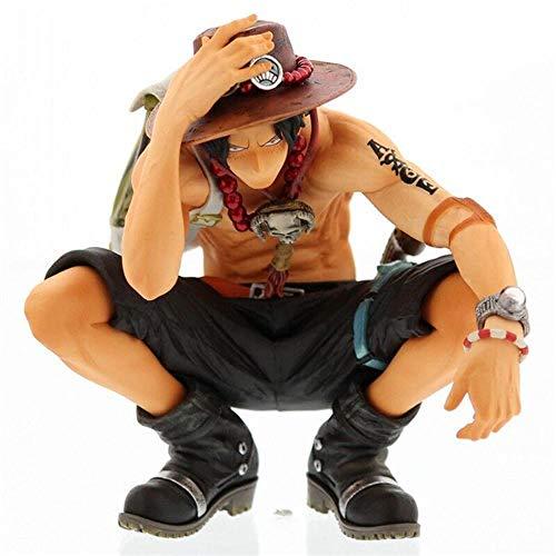 Yvonnezhang One Piece Glasses Factory Ace Figur Statue Modell Spielzeug Dekoration Geschenk
