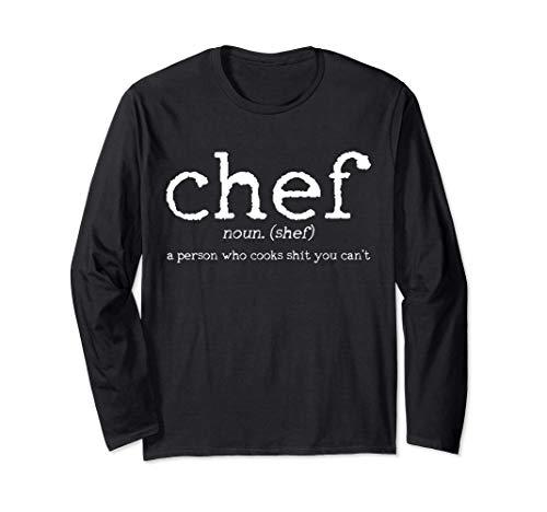 Chef definición divertido Cocinero Cocinar Regalo Manga Larga