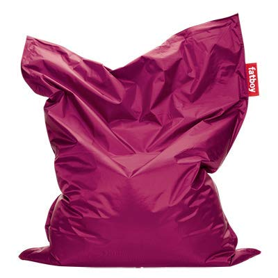 Fatboy® Original pink Nylon-Sitzsack| Klassischer Indoor Beanbag, Sitzkissen | 180 x 140 cm