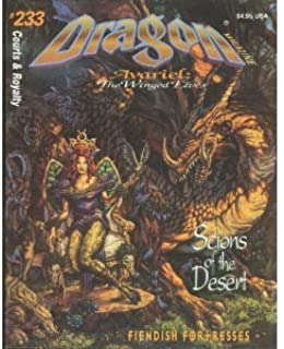 Dragon Magazine: Avariel : The Winged Elves : Court & Royalty #233 : Scions of the Desert (Monthly Magazine)