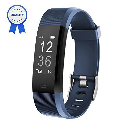 HolyHigh Fitness Armband YG3 Plus HR Pulsuhr Aktivitätstracker mit Herzfrequenz Monitor/wasserdichter/Schrittzähler/Anrufbenachrichtigungen/Ruhemodus/Kamerabedienung für Android und iOS (Blau)