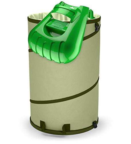 17 | Collapsible 30-Gallon Canvas Garden Reusable Yard Leaf Bag Holder & Ergonomic Large Leaf Scoop Hand Rake
