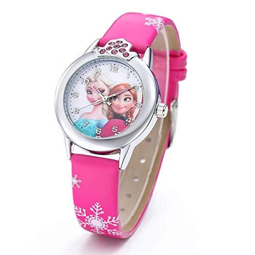 Mädchen-Armbanduhr Frozen Die Eiskönigin Elsa und Anna Frozen – Armbanduhr Rosa Fuchsia mit Elsa und Anna Die Eiskönigin für Mädchen
