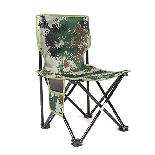 LIHENG 1 unid ultraligero aleación de aluminio plegable cuatro esquinas silla camuflaje al aire libre taburete silla asiento para acampar senderismo pesca