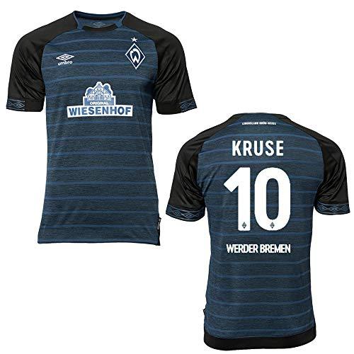 PUMA SV Werder Bremen Trikot Away Home 2019 - Kruse 10, Größe:YL (152)