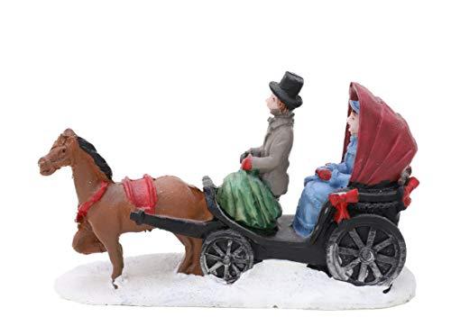 Toyland - Mini Ornamento da Collezione in Resina, Motivo: Villaggio di Natale (Carrozza)