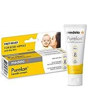 Medela Purelan 37g Crema de Lanolina para Pezones - Alivio rápido para pezones doloridos y piel seca, 100% natural, hipoalergénica, dermatológicamente probada y sin perfume
