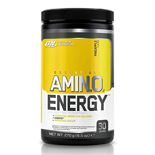 Optimum Nutrition Amino Energy Pre Workout Powder, Energy Drink with Beta Alanine, Vitamin C, Caffeine and Amino Acids, Pineapple, 30 Servings, 270 g, Packaging May Vary