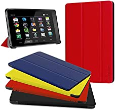 Fire HD 10 Case - Zerhunt Ultra Light Slim Fit Protective Cover with Auto Wake/Sleep For Fire HD 10 Tablet 10.1 Inch (7th Generation and 9th Generation, 2017 and 2019 Release) Red