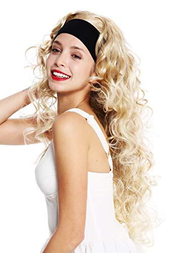 WIG ME UP - VK-27-24BT613 Perücke Damenperücke an Stirnband lang lockig gelockt voluminös Blond gesträhnt