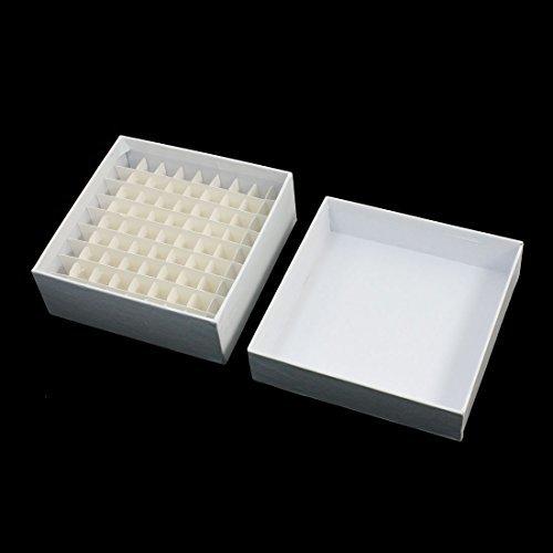 DealMux Lab 81 Positionen Cryo Vial White Paper Box 1,8 Milliliter