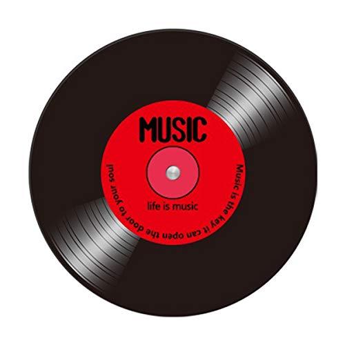 QNMM Personalidad de La Vendimia Redonda Alfombra Música Disco de Vinilo Diseño Estera de Suelo para Habitación de Los Niños Silla Sala de Ordenadores Tienda de Música Alfombras