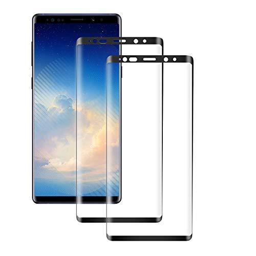 PUUDUU Cristal Templado para Samsung Galaxy Note 9, [2 Piezas] Cobertura Completa, Anti-rasguños, Sin Burbujas, Película Protectora de Vidrio Templado para Samsung Note 9