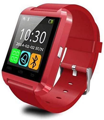 Hngyanp Actividad de Seguimiento Inteligente de Pulsera Bluetooth, podómetro de la Aptitud, la música Llamada Anti-perdida Pulsera Inteligente (Color : Red)