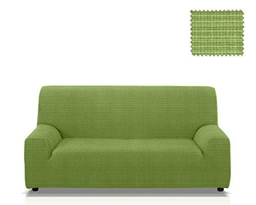 JM Textil Funda para sofá elástica Vulcano, Tamaño 4 plazas (de 205 a 235 Cm.) en Color Verde