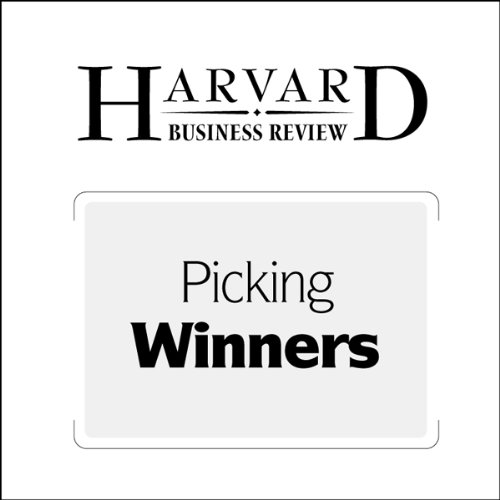 Picking Winners audiobook cover art