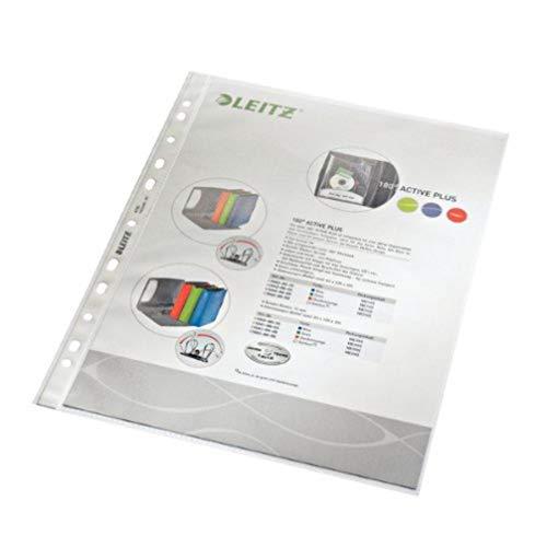 Leitz Standard Prospekthüllen-Set, 100 Stück, A4 Format, Farblos mit matter Oberfläche, Obere Öffnung, 0,085 mm PP-Folie, 47900000