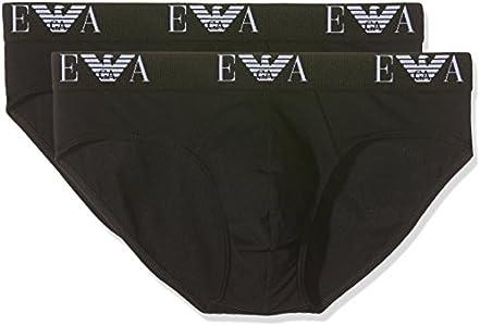 Emporio Armani 111321cc715, Baño Para Hombre, ( lot de 2 ), Negro (Black), Medium (Tamaño del fabricante:M)