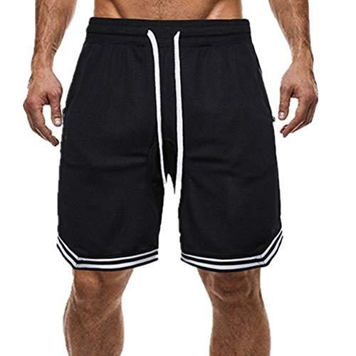 N\P Más El Tamaño De Los Hombres De Rayas Pantalones Cortos De Cordón Deportes
