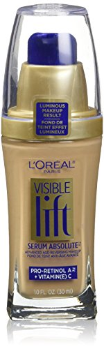 L'Oreal Paris Visible Lift Serum Absolute Foundation, Natural Beige, 1 Ounce