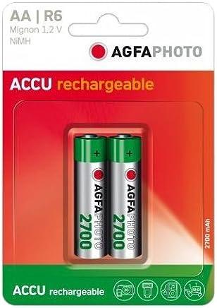 ebcc405f6 AgfaPhoto NiMh Mignon 2700 mAh - Batería/Pila recargable (2700 mAh, Níquel-