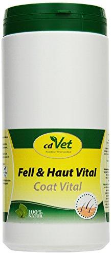 cdVet Naturprodukte Fell & Haut Vital Hund & Katze 750 g - Hund, Katze - Ergänzungsfuttermittel - Fell + Hautprobleme - Fellwechsel - Organismusunterstützung - Haarbruch - Schuppen - Haarverlust -