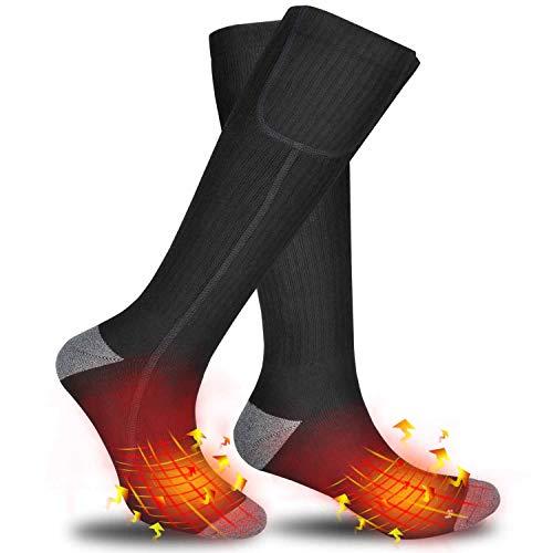 電熱靴下 防寒靴下 Runostrich 暖かい靴下 3階段温度調整 充電式 電熱ソックス 防臭 あたたかい 靴下 防寒対策 登山 スキー 男女兼用 水で洗える(黒2020年最新バージョン)