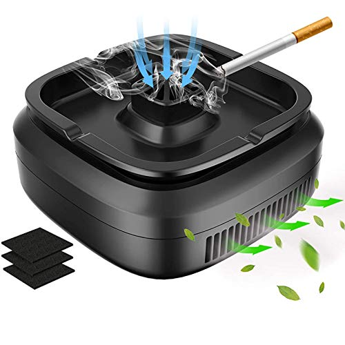MATELOTI Multifunctional Smokeless Ashtray for Cigarette Smoker, USB Rechargeable Smoke Grabber Ash Tray for Indoor Outdoor Home Office Car, Great for Smoker