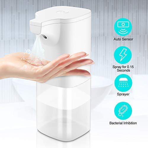 ELTD Automatisch Desinfektionsspender, Automatisch Sprühspender, Automatisches Induktions Flüssigkeit sprühgerät, für Küchen und Badezimmer Waschraum/öffentlicher, 350ml, Weiß