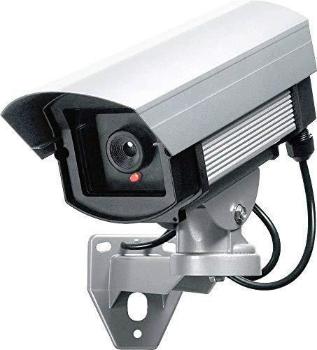 Indexa 24226 Kamera-Attrappe für Aussen Videoüberwachungssystem schwarz/weiß