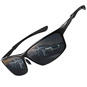 VEOAY Polarized Sunglasses for Men and Women, Al-Mg Metal Frame Ultra Light 100% UV Blocking Sports Sun glasses
