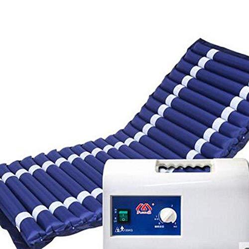 LERNME Colchón antiescaras con compresor Drive Medical Streak Cuidado de la Cama Prevent Decubitus Inflable colchón Tratamiento para el Dolor 188X81X8CM