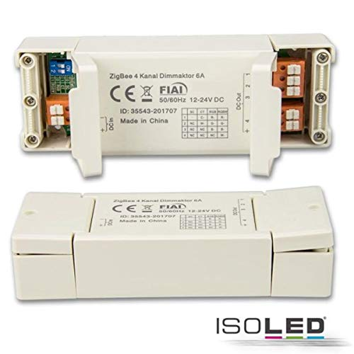 ZigBee 3.0 - Controlador PWM para bandas flexibles y focos LED (4 canales, 12-24 V, 4 x 1,5 A, 36-48 V, 4 x 0,75 A)