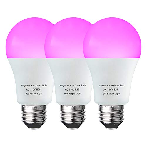 3 Pack LED Indoor Plant Grow Light Bulb A19 Bulb