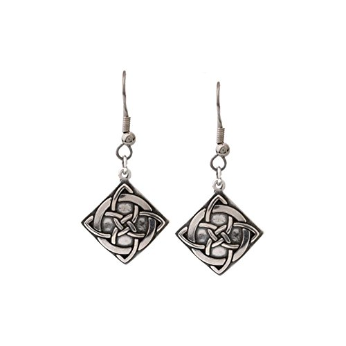 Jewelry Trends Sterling Silver Celtic Vision Knot Dangle Earrings