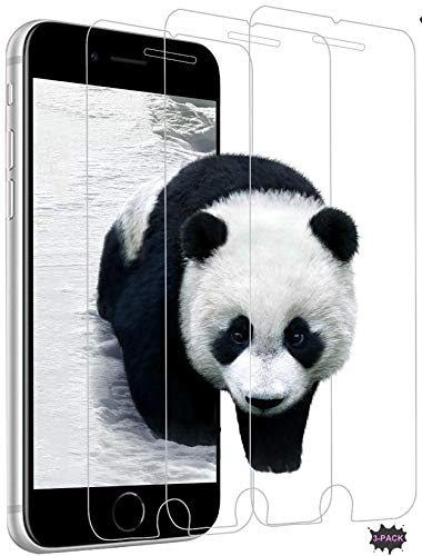 Kompatibel iPhone 6/6S/7/8/SE 2020 Panzerglas Schutzfolie Panzerglasfolie Folie Bildschirmschutzfolie SE 2020 Hartglas 9H Festigkeitgrad Anti-Kratzen Anti-Bläschen Anti-Öl Anti-Fingerprint [3 Stück]