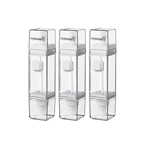 Botellas de Aceite Botella de aceite de plástico cuadrado Botella de botella de hidromasaje Cantidad controlada de doble uso Botella de aerosol de aceite para el hogar Dispensador de vinagre de aceite